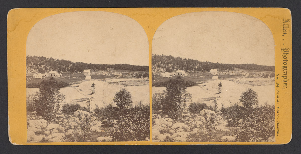 Sea Wall on Otter Creek Road Stereograph