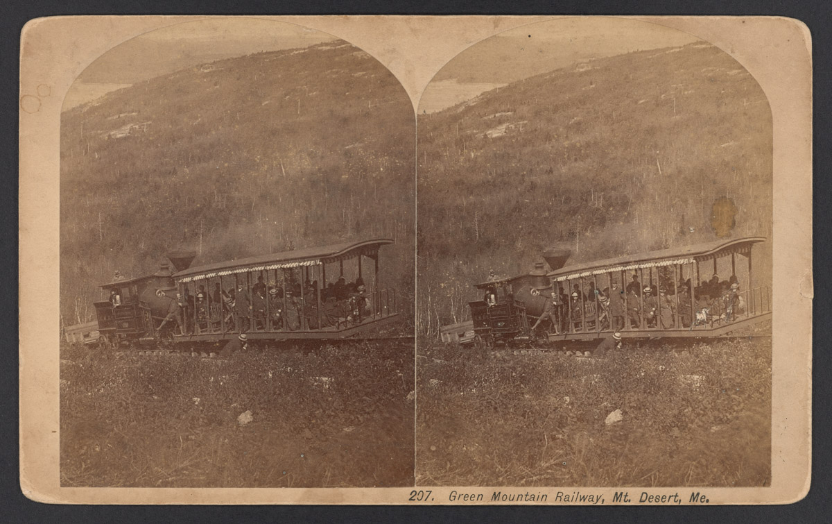 Train on the Green Mountain Railway Stereograph