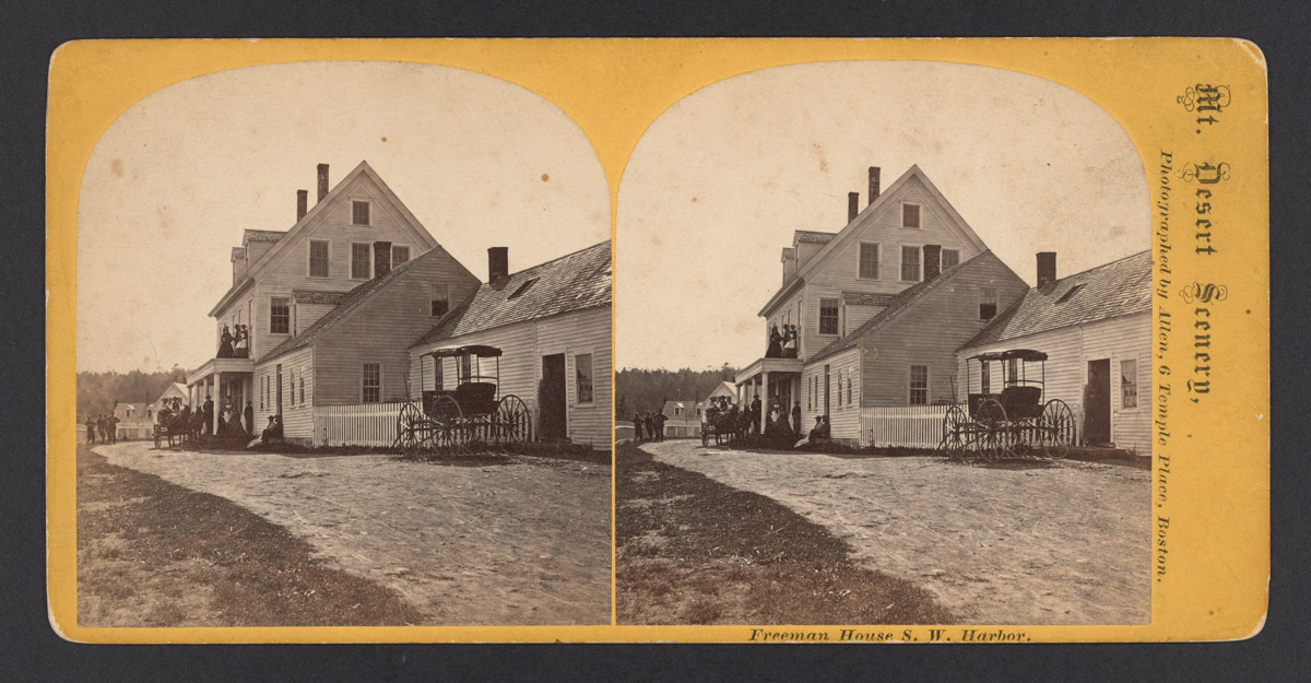Freeman House with Buggy Stereograph