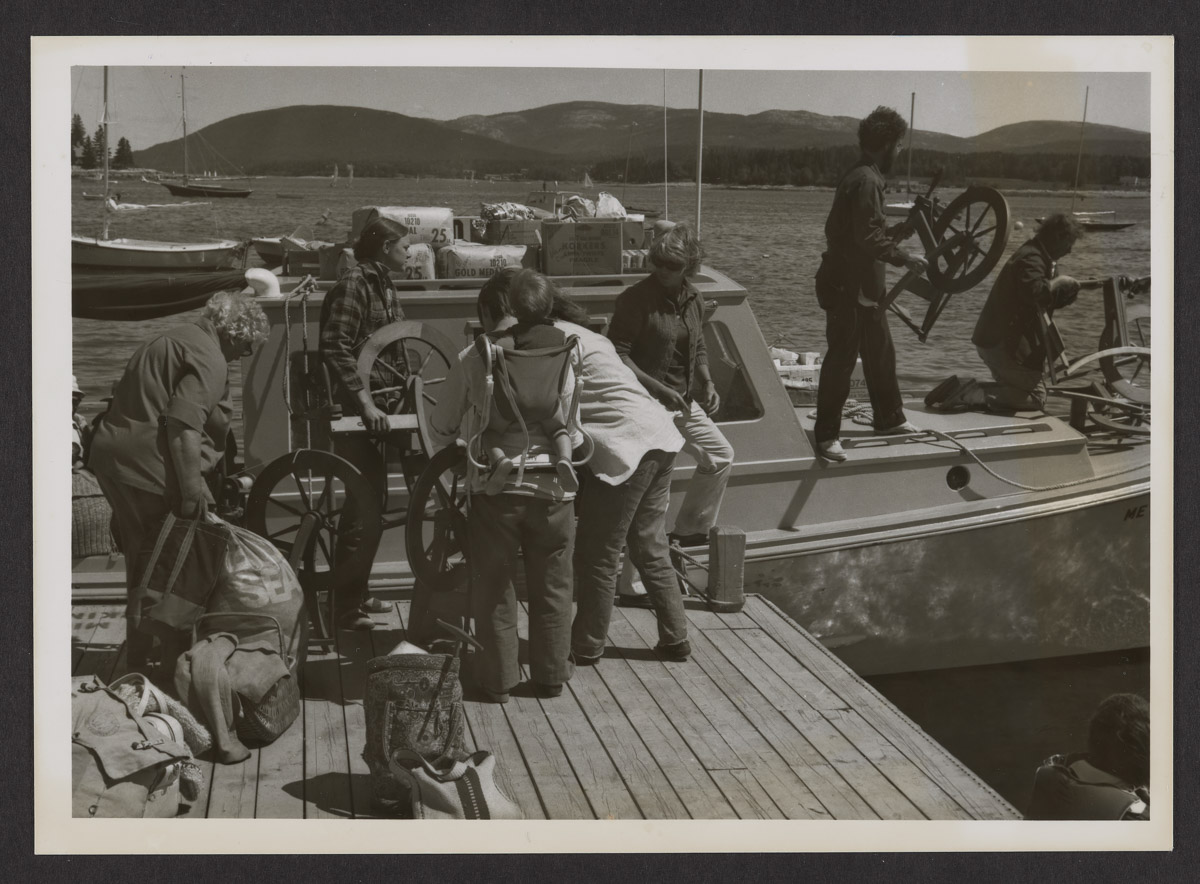 The Wednesday Spinners Loading a Boat in Islesford Photograph