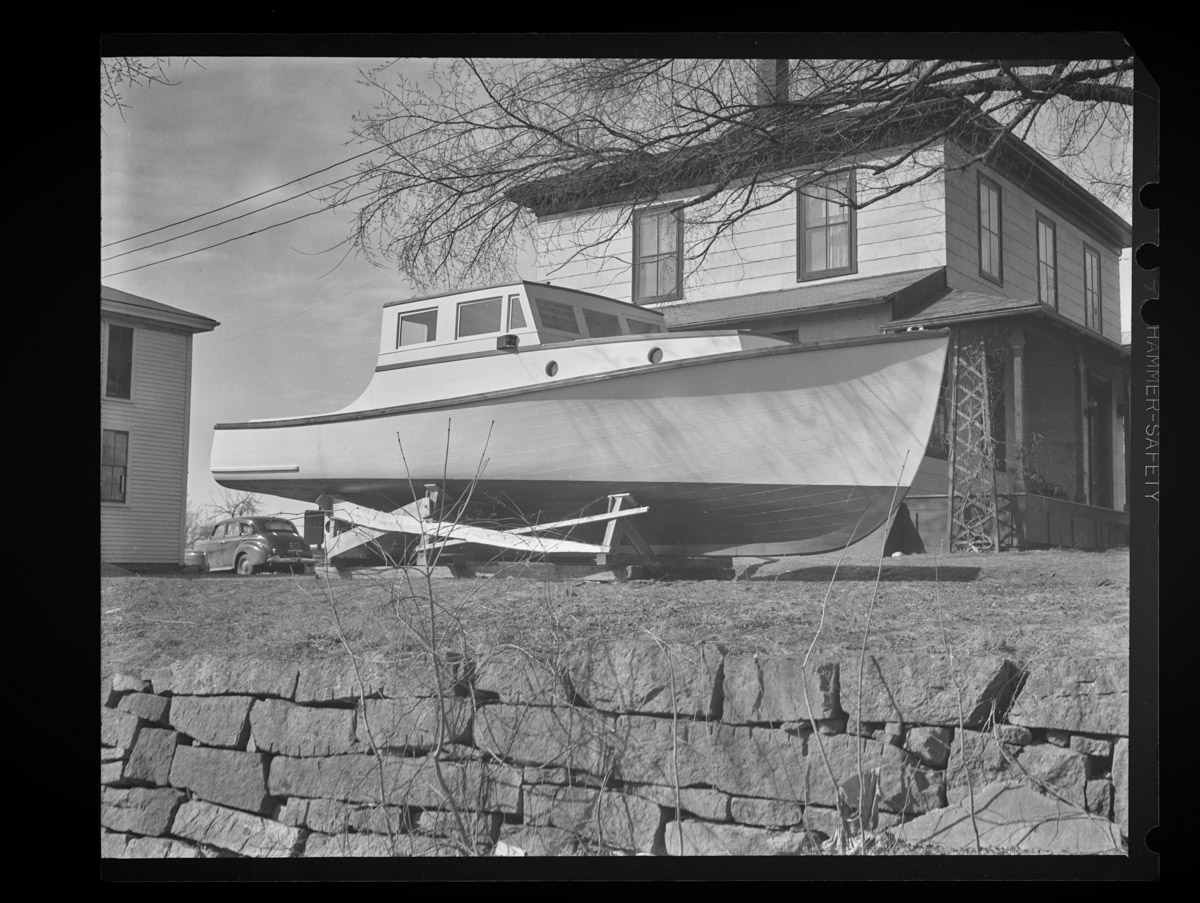 State Patrol Boat in Rich-Grindle Yard Negative, 1948 (1)