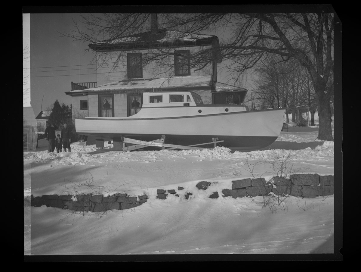 State Patrol Boat in Rich-Grindle Yard Negative, 1948 (2)
