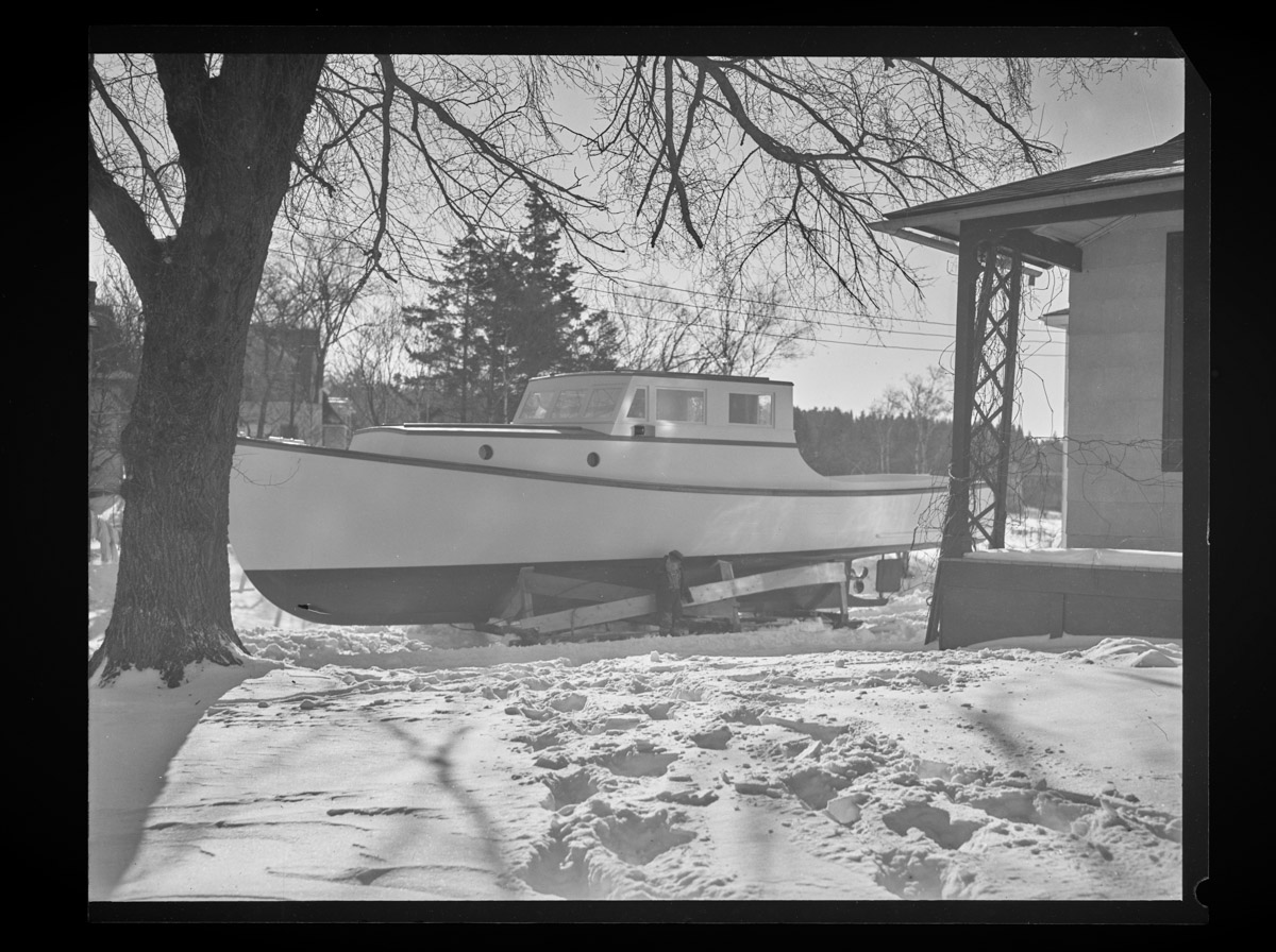 State Patrol Boat in Rich-Grindle Yard Negative, 1948 (3)