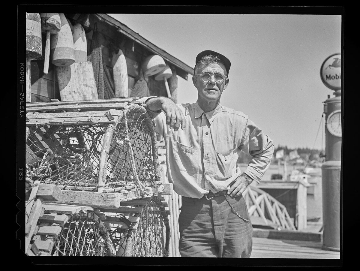 Fred Thurston with His Traps Negative, 1946 (1)